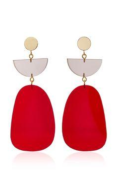 ISABEL MARANT Gold-Tone Acrylic Earrings