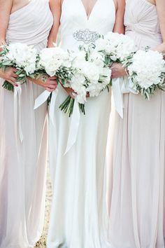 M&J Photography | Jenny Packham wedding dress | Dessy bridesmaids