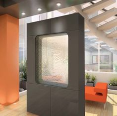 Indoor waterfall as a room divider