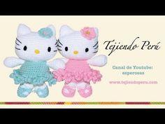 Hello Kitty tejida a crochet (amigurumi) Parte 1: cabeza - Tejiendo Perú - YouTube