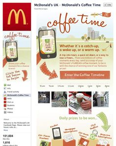 McDonalds Facebook Coffee Time app