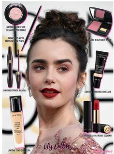 Saiba como fazer a maquiagem da atriz Lily Collins no Golden Globes