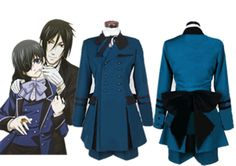 Black Butler Ciel Phantomhive Cosplay Costume cospaly Full Set Outsite Unsex new #NEW #CartoonCharacters