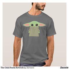 Shop The Child Pastel Artwork T-Shirt created by starwars. Popular Mens Clothing, Pastel Artwork, Star Wars Merchandise, Star Wars Baby, Animal Skulls, Dog Design, Tshirt Colors, Fitness Models, Starwars