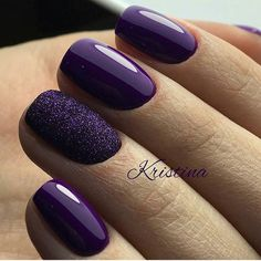 60 Trendy Ideas For Purple Nail Art Designs You Must Try - fashonails How to apply nail polish? Nail polish on your friend's nails looks perfect, however y Nail Art Violet, Purple Nail Art, Purple Nail Designs, Cute Nail Art Designs, Colorful Nail Designs, Acrylic Nail Designs, Purple Gel Nails, Gold Nails, Purple Makeup