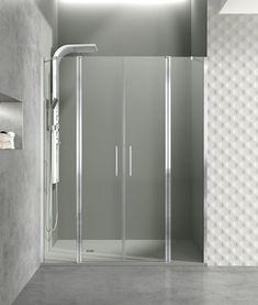 Mampara puertas abatibles y fijos de distintas medidas para combinar y ajustarse a las necesidades de tu baño.