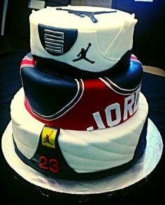 Jumpman 23, air Jordan themed cake!