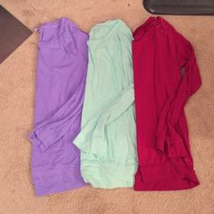 Victoria's Secret pink long sleeve bundle of 3 Will sell separately! Make me offers PINK Victoria's Secret Tops Tees - Long Sleeve