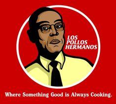 Gus Fringe, Los Pollos Hermanos Logo - Breaking Bad #inspiration #logo #design #BreakingBad