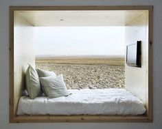 deep window sill + bed. Hotel Aire de Bardenas by Emiliano López and Mónica Rivera in Navarre, Spain.