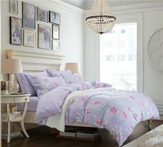 Rose Purple Bedding Set Teen Bedding Dorm Bedding Bedding Collection Gift Idea Teen Bedding, Modern Bedding, Purple Bedding Sets, Pillow Shams, Pillows, Rounded Rectangle, Flat Sheets, Floral Style, Bedding Collections