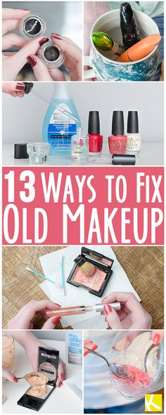 13 Free and Simple Ways to Save Old Makeup