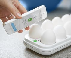 Egg Minder Smart Egg Tray – $70  I really need this great birthday present.