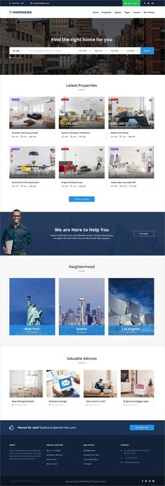 Mottestate is a wonderful #PSD template for #webdev real estate or #property listing websites with 23 organized PSD files download now➩ https://themeforest.net/item/mottestate-real-estate-template/19416441?ref=Datasata