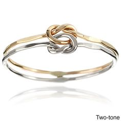 Jewelry - Tressa Sterling Silver Handcrafted Love Knot Double Band - $21.99 | Get paid up to 7.5% Cashback when you shop at Overstock.com with your DubLi membership. Not a member? Sign up for FREE at www.downrightdealz.net