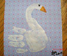 Swan handprint