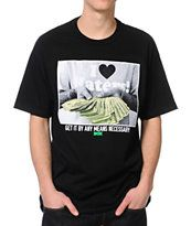 DGK By Any Means Black Tee Shirt
