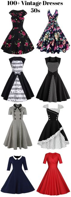 100+ Vintage Dresses 50s are free of your choices! sammydress,sammydress.com #vintageclothing
