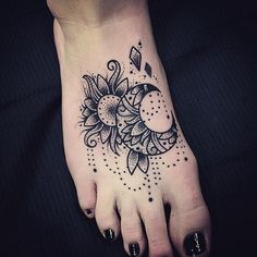 Most popular tags for this image include: alternative, tattoo, sun tattoo, foot tattoo and sexy