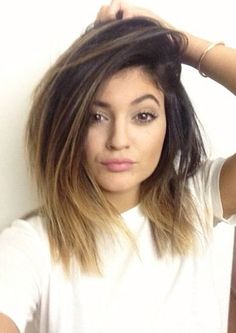 Kylie Jenner new hair 2014  mighhhhtt cut my hair like this just cause i'm completely in love with it but idkk.