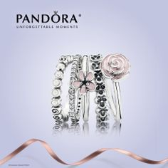 Stacked rings from Pandora. Which is your favorite?