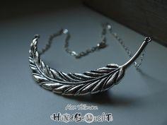 """Kette Tibetsilber """"big feather"""""""