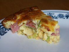 Ham Cheese and Broccoli Quiche no crust-2 g carb