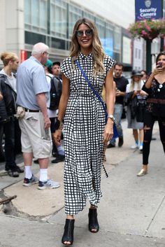 Stripes, Trench Coats and Rain: The Best Street Style From Day 1 of Fashion Week