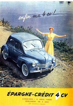 pub Renault 4CV 1954 by gunthert, via Flickr