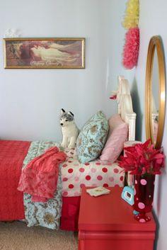 vintage girl's bedroom