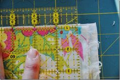 How to square up fabric before cutting for garments or quilts.