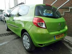 Bright green Renault Clio