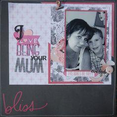 SCRAP THE BOYS blog-Love Mum Boy layout