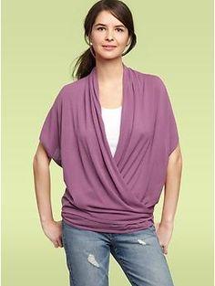 Draped dolman sweater   Gap, nursing top?