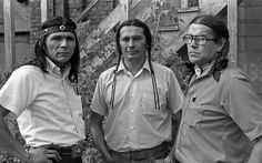 Dennis Banks, Russell Means, Clyde Bellecourt, AIM Headquarters, August 1971; by…