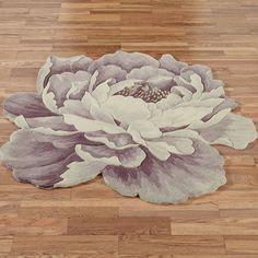 Sophia Peony Round Flower Rugs