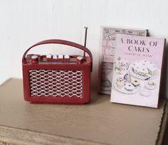 Dolls House Miniature Vintage Radio by Artistique on Etsy