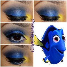 Im always using neutrals so I thought Id try something more colorful with this Dory inpired look ❤ #dory #makeup #art #blue #findingnemo #pixar #aspiringmua #vegas_nay #vanitymafia #industrypro #makeuphoneys #itsam0re #maccosmetics #lashes #colorful #colorfulmakeup #inspired #artist #disney #cartoon - @cindygmakeup- #webstagram