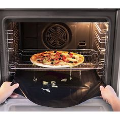 Use a removable oven liner - first thing to buy for a new apartment!