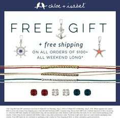 Free Gift Time! Visit my boutique today before this offer ends! www.chloeandisabel.com/boutique/jenellebates