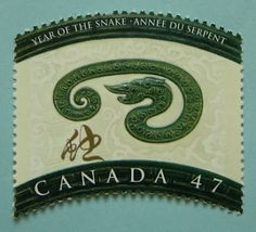 philatelic chinese lunar new year 2001 canada year of the snake - Chinese New Year 2001