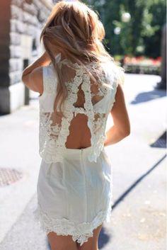 Street style ♥ na white lace dress beautiful Estilo Fashion, Look Fashion, Fashion Beauty, Womens Fashion, Latest Fashion, Dress Fashion, Fashion Ideas, Looks Street Style, Looks Style