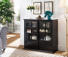 Kings Brand Furniture Wood Curio Cabinet with Glass Sliding Doors (Espresso) Kings Brand Furniture http://www.amazon.com/dp/B0195NFCNW/ref=cm_sw_r_pi_dp_P62Xwb0A8KJ4N