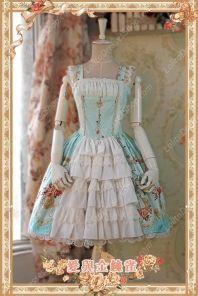 Sweet Cotten Original Printing Love & Canary Infanta Lolita JSK