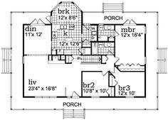 Farmhouse Floor Plan - Main Floor Plan Plan #47-648
