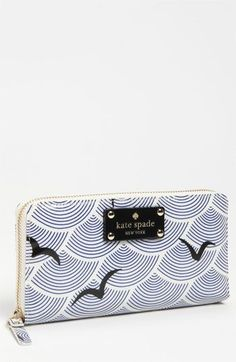 kate spade new york 'daycation – lacey' wallet Kate Spade Outlet, Cute Wallets, Cute Purses, Cute Bags, Fashion Handbags, Purse Wallet, Wallets For Women, Zip Around Wallet, Fashion Fashion