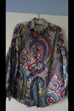 Robert Graham paisley print Mens Printed Shirts, Men Shirts, Men Fashion, Retro Fashion, Robert Graham, Clothes Line, Paisley Print, Vines, Bohemian