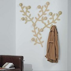 Beautiful, nature-inspired 'Leaf' Coat Hooks. Perfect for hallway, great design, leafs and flowers in your house. My Italian Living