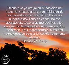 Salmos 71:17-19