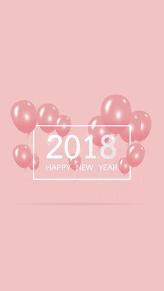 "Pastel Pink ""Happy New Year 2018""- Wallpaper for iPhone and Android ♣️Fosterginger.Pinterest.ComMore Pins Like This One At FOSTERGINGER @ PINTEREST No Pin Limitsでこのようなピンがいっぱいになるピンの限界"